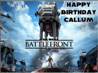 Astounding A4 Star Wars Battlefront Personalised Edible Icing Or Wafer Birthday Personalised Birthday Cards Fashionlily Jamesorg